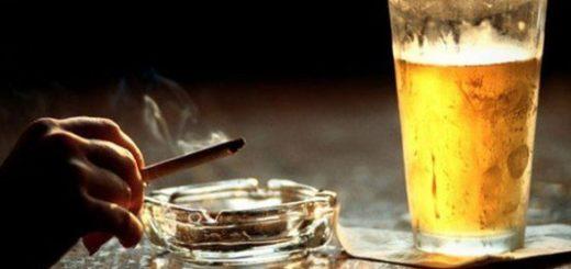 пиво с сигаретой